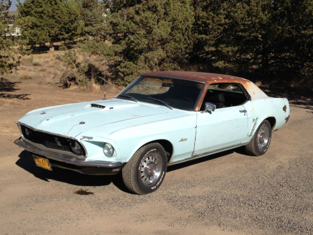 1969 ford mustang gt coupe h code 351 auto aztec aqua tachometer 1 of 1 made 69 for sale. Black Bedroom Furniture Sets. Home Design Ideas