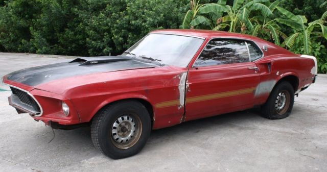 67 Mustang Fastback Project Car For Sale >> 1969 FORD MUSTANG MACH 1 428 CJ Q CODE 69 MACH1 428CJ ...