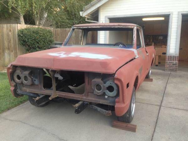 1969 Gmc C15 Short Bed Fleet Side Project Truck For Sale