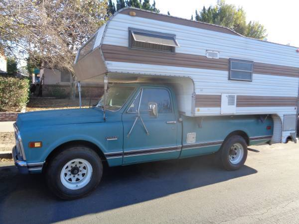 1969 Gmc C20 Pick Up Truck Camper Long Bed Chevrolet Chevy