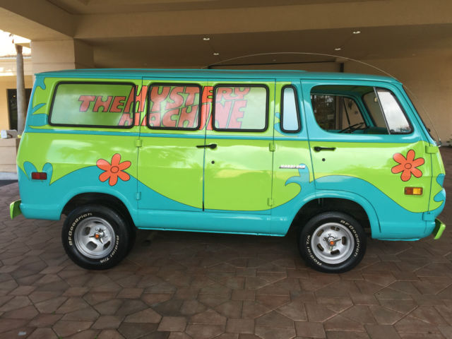 1969 gmc van mystery machine scooby doo chevy gm memorabilia collectible cartoon for sale. Black Bedroom Furniture Sets. Home Design Ideas