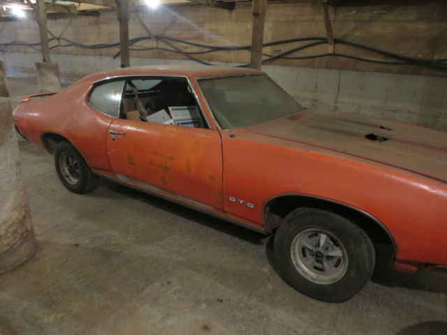 1969 GTO JUDGE PHS DOCUMENTED 4 SPEED COMPLETE PROJECT CAR