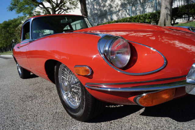 1969 Red Jaguar XKE E-Type Series II Black Leather Coupe with Black interior