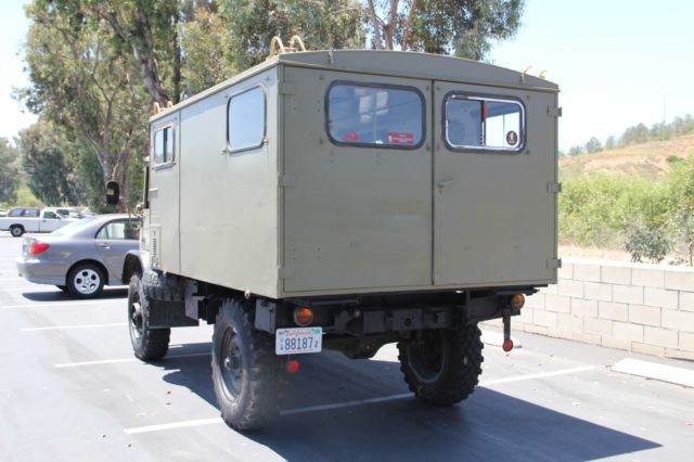 1969 Mercedes Unimog 404 with Full Communications Camper