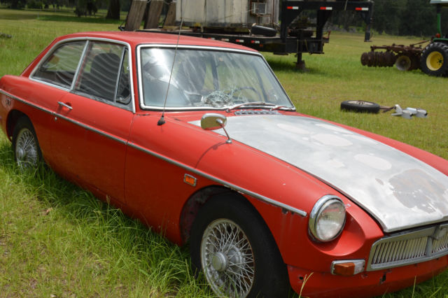 1969 MGB GT 2 Door Coupe Hatchback w Air and Overdrive - Barn Find Project Car & 1969 MGB GT 2 Door Coupe Hatchback w Air and Overdrive - Barn Find ...