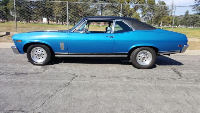 1969 Nova Ss 396 Lemans Blue In Excellent Condition For