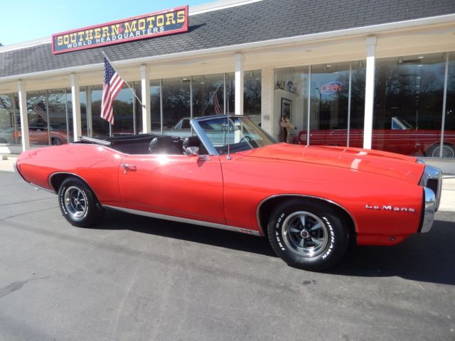1969 Pontiac Lemans Convertible Rally Red 400 Car For Sale Photos
