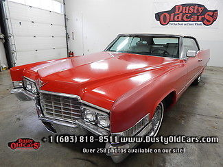 1969 Cadillac DeVille Runs Drives Body Interior VGood Top Works