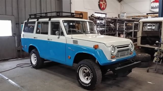 1969 restored fj55 4 dr wgn v8 4 spd ps upgrade paint \u0026 interior