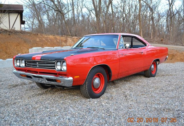 1969 Plymouth Road Runner RM23 ROADRUNNER 383 FACTORY 4SPD AIR GRABBER