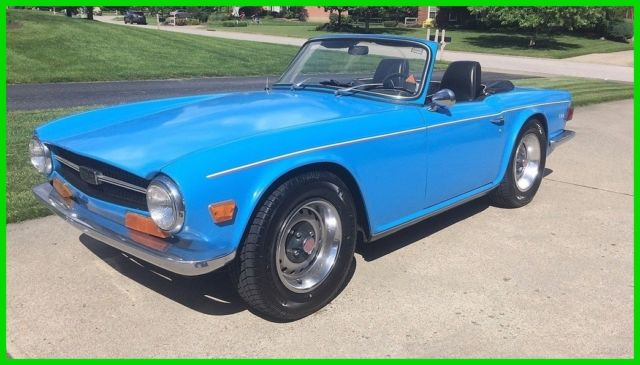 1969 Triumph Tr6 Convertible 25 L Straight 6 Fuel Injection