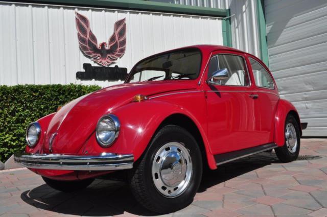 1969 Volkswagen Beetle German Factory Sunroof Red