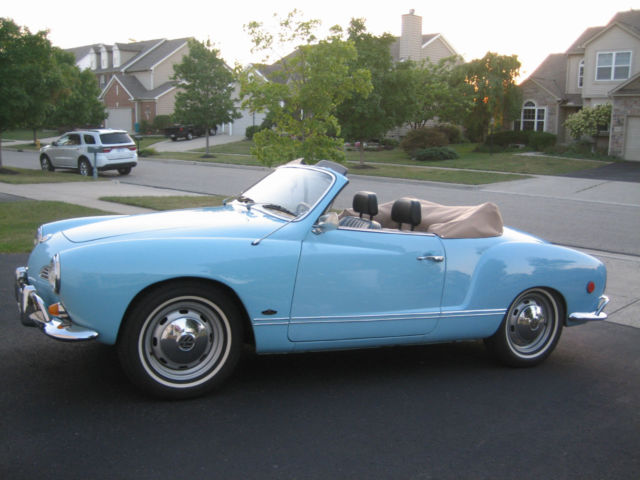 1969 Vw Karmann Ghia Convertible Rare Automatic Stickshift Stick Shift