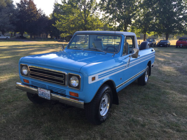 1979 International Harvester Scout 1979 SCOUT   TERRA  4X4  LOW MILES  94.K