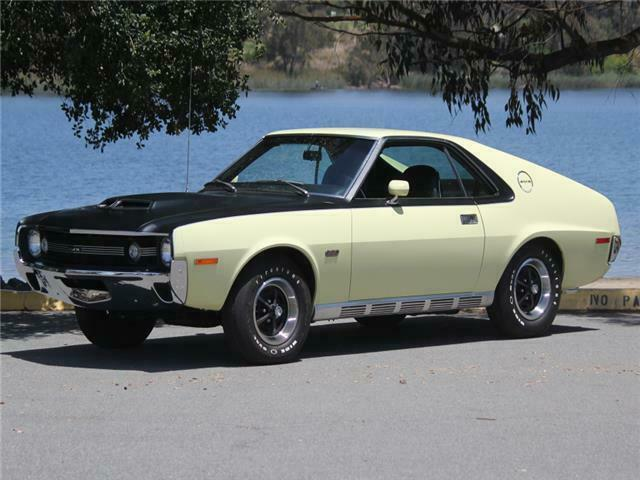 1970 cream AMC AMX GO-Pack 390 -- with Black interior