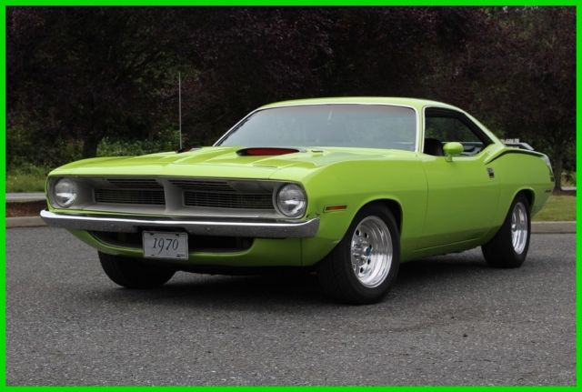 1970 Plymouth Barracuda Sublime Cuda clone, Built 383, Excellent Driver Muscle Car