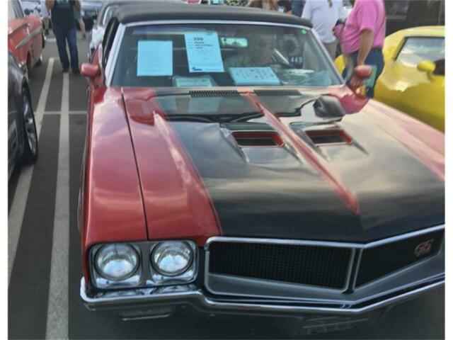 1970 Red Buick GS 455 Stage 1 Clone Convertible with Black interior