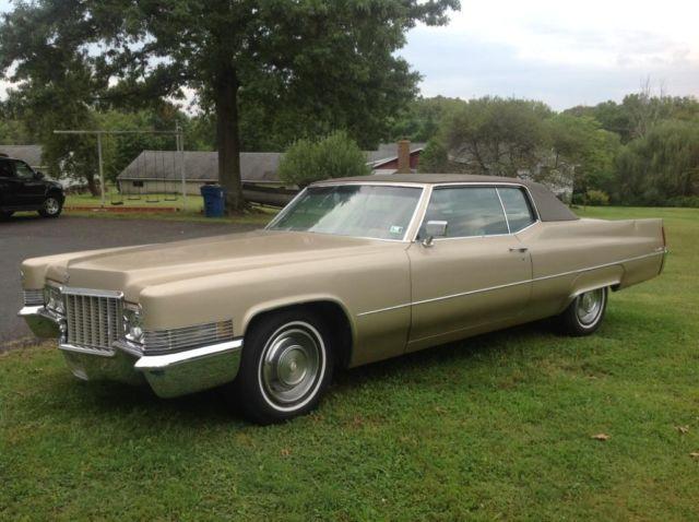 1970 Cadillac Coupe Deville Gold Color For Sale Photos Technical