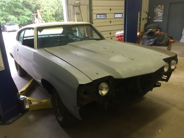1970 Chevelle Project Car 95 Rust Free Body For Sale Photos