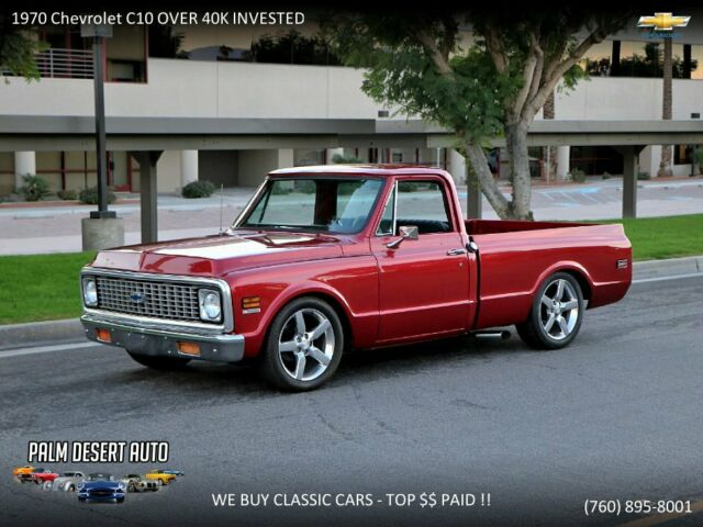 1970 Chevrolet C-10 -LOWERED NEW PAINT 454 AUTO RESTORED PS PB NEW INT