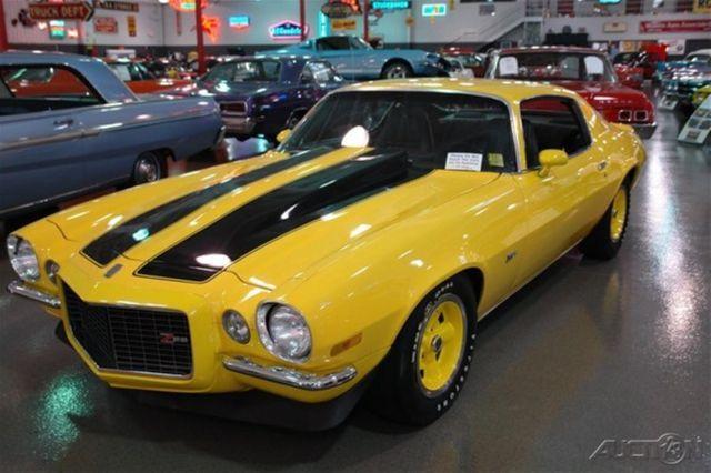1970 Chevrolet Camaro Z28 Yellow Black Rally Stripes 396 4 Speed Manual Trans For Sale Photos