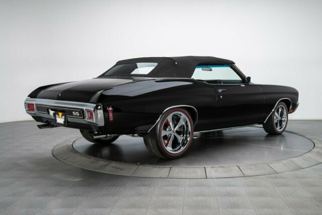 1970 Black Chevrolet Chevelle Convertible with Black interior