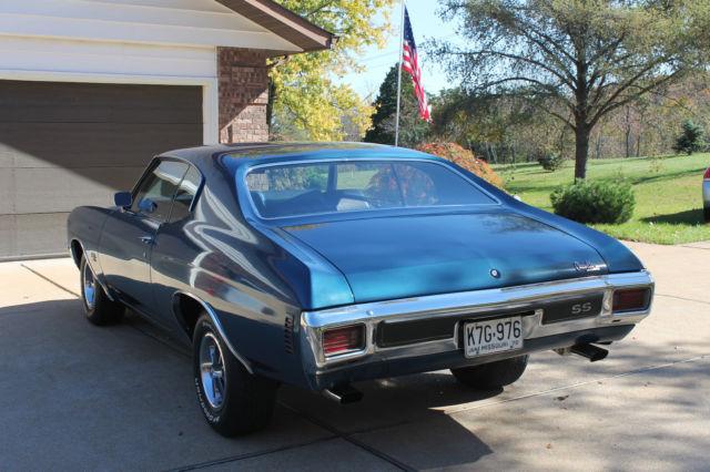 1970 Chevrolet Chevelle Ss 454 Ls5 M22 Original 31 000