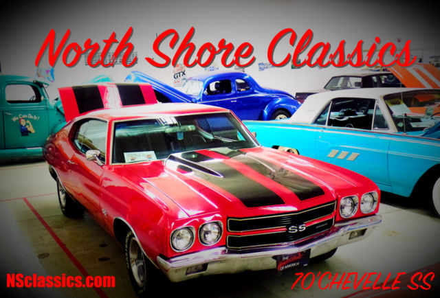 1970 Chevrolet Chevelle Red-SS TRIBUTE-BUCKET SEATS-CENTER CONSOLE