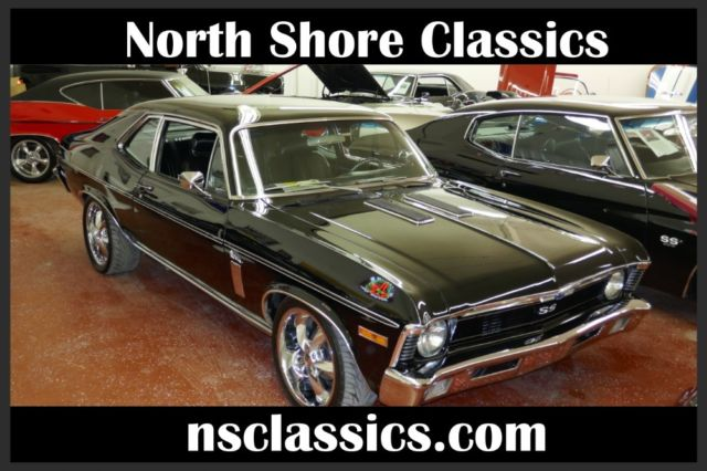 1970 Chevrolet Nova BLACK ON BLACK SLEEPER WITH SS UPGRADES-GREAT PAIN