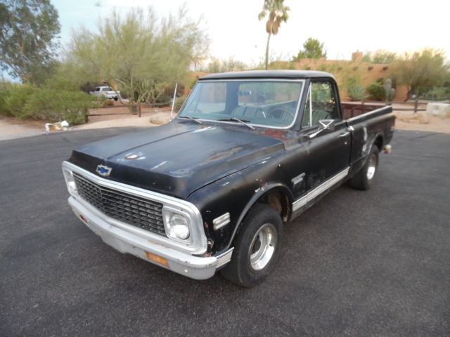 1970 Chevrolet C-10  SB CST - Rare - Factory 396,AT,AC- Factory Black
