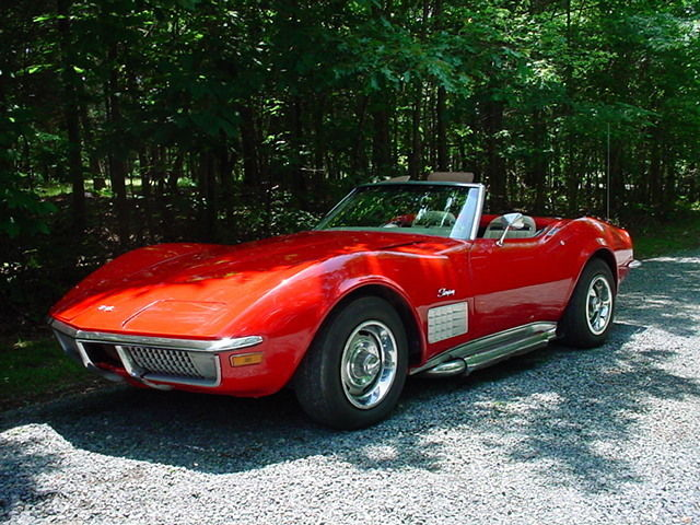 1970 Chevrolet Corvette Roadster Convertible. Match # 350/350 4spd. Hurst