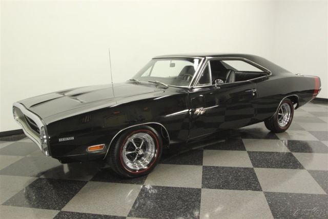 1970 Black Dodge Charger with Black interior
