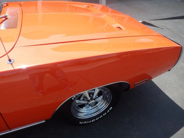 1970 Hemi orange Dodge Charger Sedan with Black interior