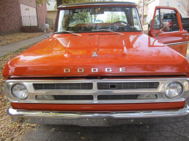 dodge d100 sweptline rare burnt orange color