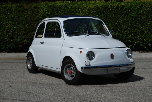 1970 fiat 500 abarth 39 d fast and modified no rust restored perfect screamer for sale. Black Bedroom Furniture Sets. Home Design Ideas