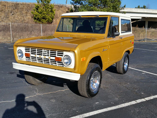1970 ford bronco 87864 miles caramel gold white for sale photos technical specifications. Black Bedroom Furniture Sets. Home Design Ideas