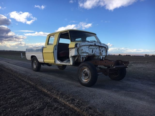 1970 Ford F250 Crew Cab 4x4 Short Bed Project Truck Crewcab F 250 67