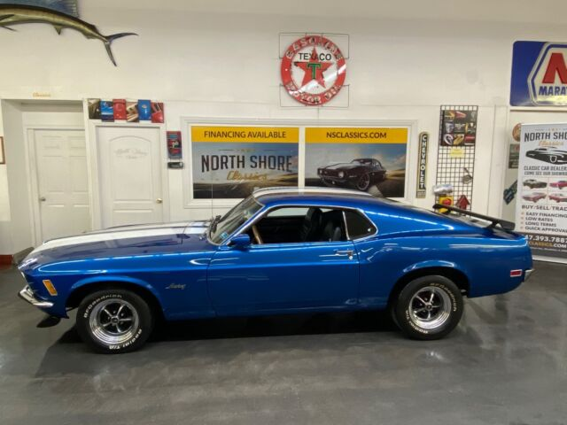 1970 Blue Ford Mustang - 351W ENGINE - AUTO TRANS - RUNS AND DRIVES G 2 Door with Black interior