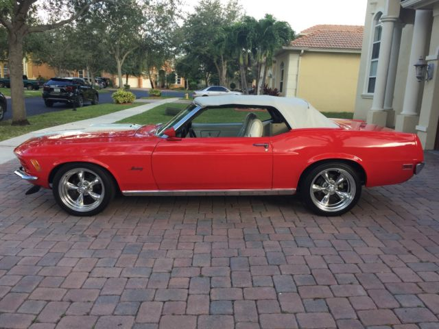 1970 Red Ford Mustang Mustang Conv. 351, Auto, PS, PDB, PTop, 1 of 6199 Convertible with White interior