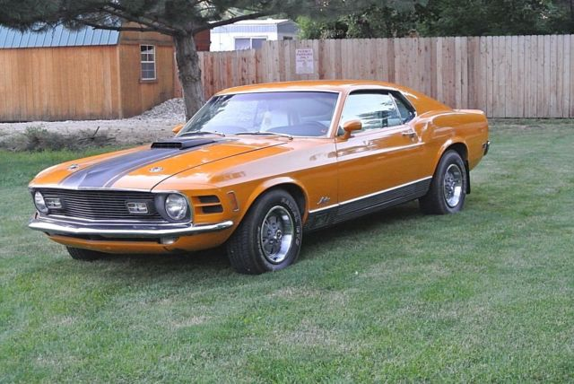 Cl Mustang >> 1970 Ford Mustang Mach 1 V8 351 Cl Manual 4 Sp 49k Miles Orange