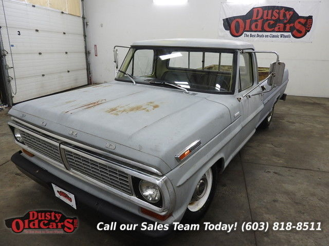 1970 Ford F-250 Runs Drives Body Inter Good 390V8 Auto Nice Truck
