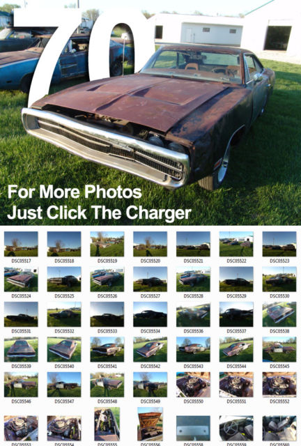 1970 Dodge Charger Great Investment Grade Collector Car