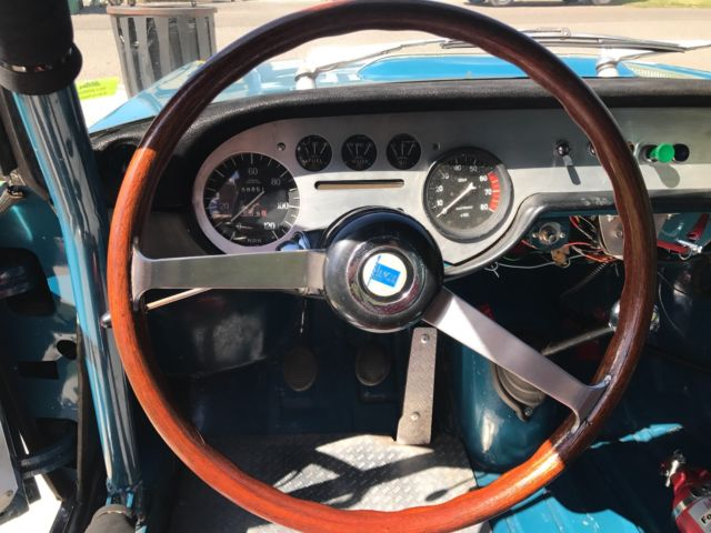 1970 Blue Lancia Fulvia Coupe with Tan interior