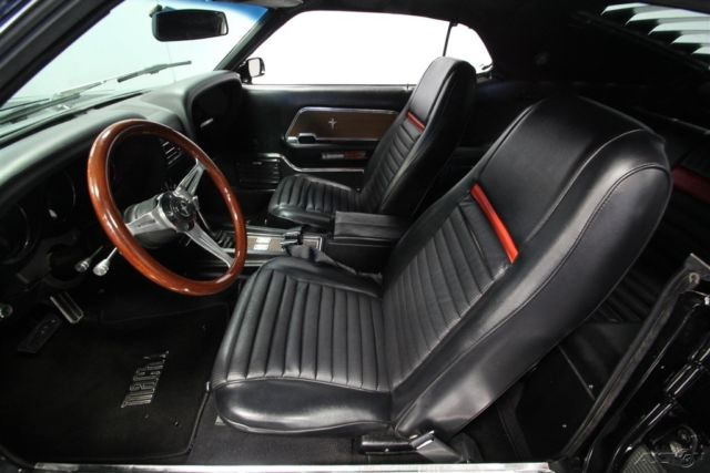 1970 Black Ford Mustang with Black interior