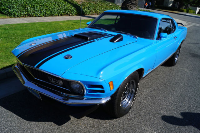 1970 Ford Mustang MACH 1 WITH 351 CLEVELAND  V8 & 4 SPD HURST TRANS!