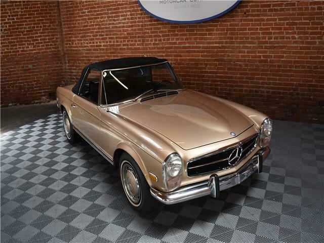 1970 Beige Mercedes-Benz SL-Class Convertible with Brown interior