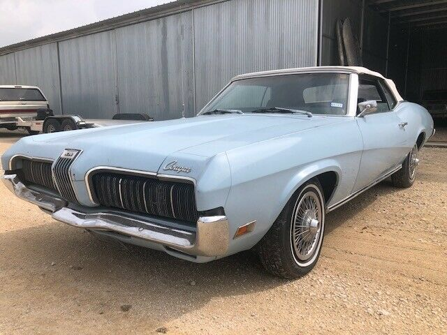 1970 MERCURY COUGAR XR-7 CONVERTIBLE,  M CODE 351 CLEVELAND,  MUSTANG