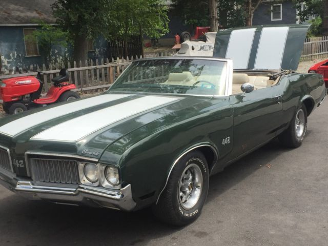 1970 Oldsmobile 442 1970 OLDS 442 CONVERTIBLE 455  RARE 3SPD STICK NR