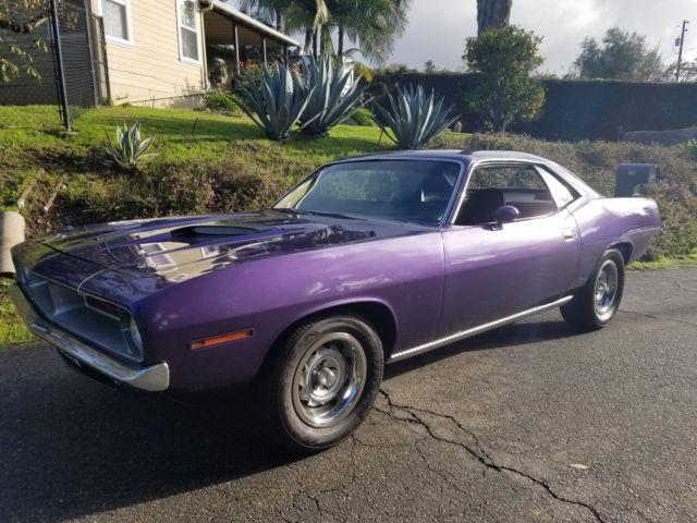 1970 Plymouth Barracuda Cuda Plum Crazy Purple 440 W Alum Heads Nice Ca Car