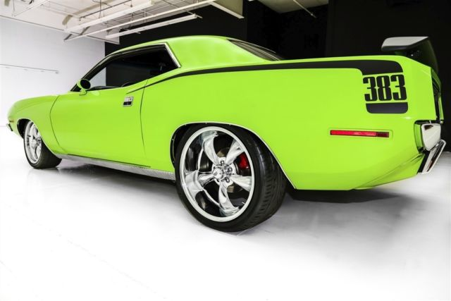 1970 Plymouth Cuda Sub Lime Green 383 Pistol Grip 4 Sd New Paint Manual